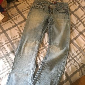 Aeropostale light blue bootcut jeans